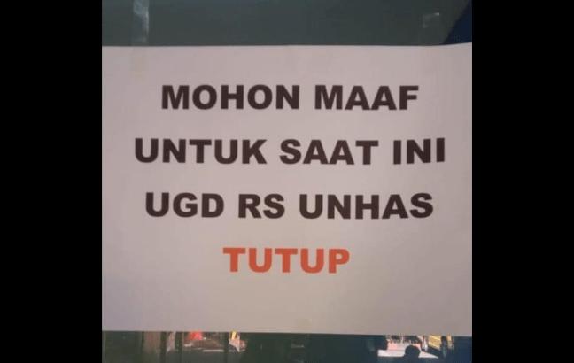 UGD RS Unhas Tutup